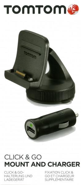 TomTom Autohalterung für TomTom GO LIVE 1000 Europe mit Autoladekabel