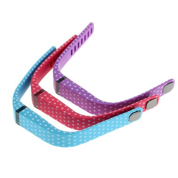Armband f. Fitbit Flex  3er Set – rot/blau/lila