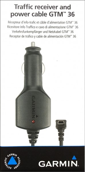 Garmin Autoladekabel m.GTM-36 mit  TMC Empfänger