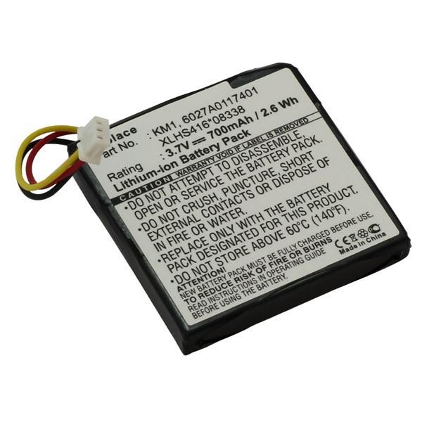 Akku, Batterie f. TomTom Via LIVE 120 - Europe